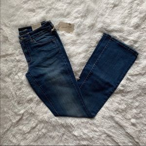 Mid-rise skinny/ bootcut jeans